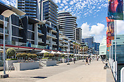 New Quay Promenade Boardwalk at Melbourne Waterfront City
