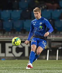 Magnus Wørts (HB Køge) under kampen i 1. Division mellem HB Køge og FC Helsingør den 4. december 2020 på Capelli Sport Stadion i Køge (Foto: Claus Birch).
