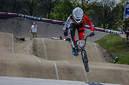 #572 (BRETHAUER Luis) GER at the 2016 UCI BMX Supercross World Cup in Papendal, The Netherlands.