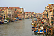 Famous hazy midday view of the Grand Canal in Venice