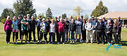 The crew ready to take on the challenge of our 2020 South Island Masters Games golf competition which got under way today with the Four Ball Best Ball. Held at Denfield Golf Club north of  Timaru.<br /> Photo Kevin Clarke CMGSPORT<br /> 14/10/2020<br /> ©cmgsport2020