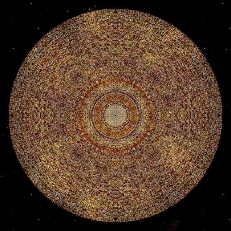Sacred Art Mandala inspired by  iconographic forms and principles of traditional Ethiopian spiritual art.