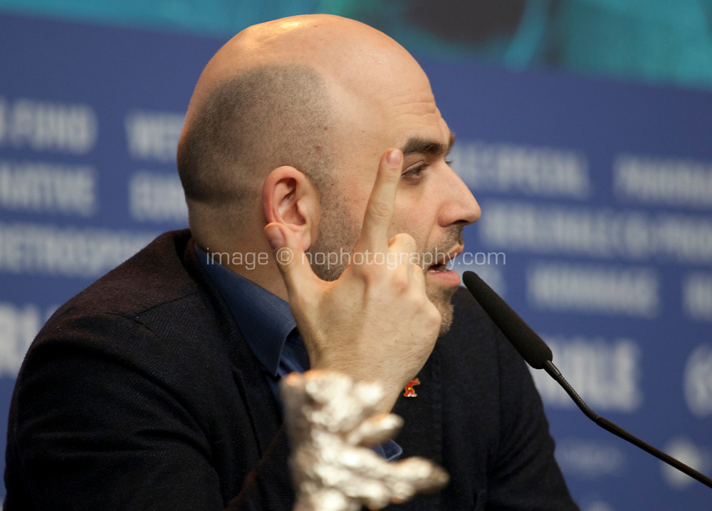 Roberto Saviano, winner of the Silver Bear for Best Screenplay, for the adaptation of Saviano's novel Piranhas at the award winners press conference at the 69th Berlinale International Film Festival, on Saturday 16th February 2019, Hotel Grand Hyatt, Berlin, Germany.