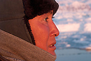 (MODEL RELEASED IMAGE). Emil Madsen is on the hunt for a seal just after midnight in Scoresby Sound, the enormous fjord on Greenland's eastern side. Later tonight he will find and shoot that seal and bring it back home for his wife, Erika, to clean and cook. (Supporting image from the project Hungry Planet: What the World Eats.)