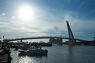 Fisherman's Wharf ?????? and Lover's Bridge at sunset in Danshui, Taiwan.