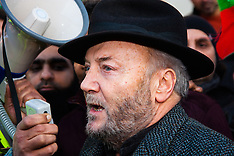 "2015-02-15 Pakistanis demonstrate against the harbouring of ""terrorist"" Altaf Hussain in Britain"