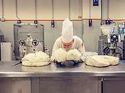 MILANO, The making of Panettone. the Pasticceria Martesana workshop. Vincenzo smelling and testing the mother yeast