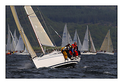 Yachting- The first days inshore racing  of the Bell Lawrie Scottish series 2002 at Tarbert Loch Fyne. Near perfect conditions saw over two hundred yachts compete. <br /><br />Elan 333 Elanor (3331C) class 3, Overal winner<br />Pics Marc Turner / PFM