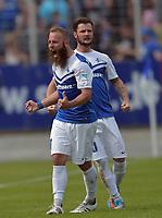 Fotball<br /> Tyskland<br /> 24.05.2015<br /> Foto: Witters/Digitalsport<br /> NORWAY ONLY<br /> <br /> 1:0 Jubel Torschuetze Tobias Kempe (Darmstadt) <br /> Fussball, 2. Liga, SV Darmstadt 98 - FC St. Pauli