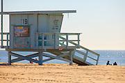 Lifeguard Tower 19 at Venice Beach California