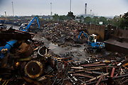 A scrap metal recycling yard, Edmonton, London.