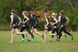 Festival of Champions High School Cross Country meet, girls team warmup