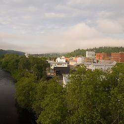 The Passumpsic River in St. JohnsburyVermont.