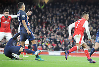 Football - 2016 / 2017 UEFA Champions League - Group A: Arsenal vs. Paris Saint-Germain<br /> <br /> Marco Verratti of PSG stabs the ball into his own net for Arsenal's second goal at The Emirates.<br /> <br /> COLORSPORT/ANDREW COWIE