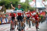 Arrival, Elia Viviani (ITA - QuickStep - Floors) winner, during the UCI World Tour, Tour of Spain (Vuelta) 2018, Stage 3, Mijas - Alhaurin de la Torre 178,2 km in Spain, on August 27th, 2018 - Photo Luis Angel Gomez / BettiniPhoto / ProSportsImages / DPPI