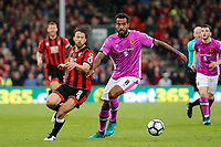 Football - 2016 / 2017 Premier League - AFC Bournemouth vs. Hull City<br /> <br /> Bournemouth's Harry Arter flicks the ball past Tom Huddlestone of Hull City to set up another Bournemouth attack at Dean Court (The Vitality Stadium) Bournemouth<br /> <br /> Colorsport/Shaun Boggust