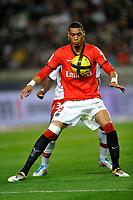 FOOTBALL - FRENCH CHAMPIONSHIP 2010/2011 - L1 - PARIS SAINT GERMAIN v AS NANCY - 10/05/2011 - PHOTO GUY JEFFROY / DPPI - GUILLAUME HOARAU (PSG)