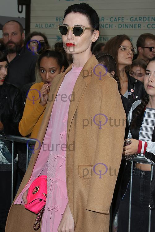 Erin O'Connor, London Fashion Week SS17 - Topshop, Old Spitalfields Market, London UK, 18 September 2016, Photo by Brett D. Cove