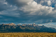 Early morning view of the Grand Tetons on the outskirts of Jackson, Wyoming.