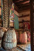 Interior to Debre Damo Church. West of Adigrat, Tigray Region. Ethiopia, Horn of Africa