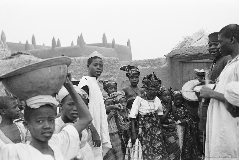 Street Scene, Kano, Nigeria, Africa, 1937