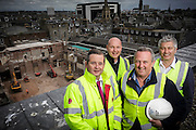 Friday 27th June 2014,  Aberdeen Scotland, Contractors looking down onto The Capitol demolition site.<br /> <br /> (Photo Ross Johnston / Newsline Media)