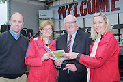 Jonathan Forbes Keypak, Mairead McGuinness MEO, Michael Diskin Teagasc and Stephanie Fitzgerald Supervalu attending 'SHEEP2015', the major National Sheep Open Day hosted by Teagasc at Athenry on Saturday. Photo:- Andrew Downes / xposure.ie  No Fee. Issued on behalf of Teagas