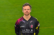 Head shot.  James Hildreth wearing the Somerset Vitality Blast kit at the media day at Somerset County Cricket Club at the Cooper Associates County Ground, Taunton, United Kingdom on 11 April 2018. Picture by Graham Hunt.