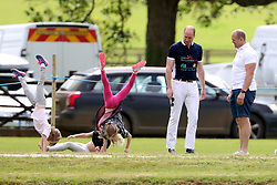 Prince William, Duke of Cambridge, Zara Phillips, her husband Mike Tindall and their daughter Mia are seen at the Maserati Royal Charity Polo Trophy at Beaufort Polo Club in Gloucestershire<br /><br />11 June 2017.<br /><br />Please byline: Vantagenews.com<br /><br />UK clients should be aware children's faces may need pixelating.