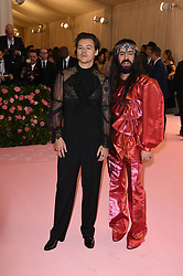 Harry Styles and Alessandro Michele attending the Costume Institute Benefit at The Metropolitan Museum of Art celebrating the opening of Heavenly Bodies: Fashion and the Catholic Imagination. The Metropolitan Museum of Art, New York City, New York, May 6, 2019. Photo by ABACAPRESS.COM