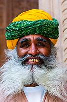 Man, Mehrangarh Fort, Jodhpur, Rajasthan, India