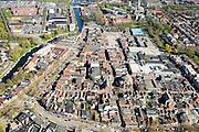 Nederland, Noord-Holland, Purmerend, 20-04-2015; stadscentrum rond Koepelkerk, Stadshuis en Schouwburg De Purmaryn. <br /> City centre.<br /> luchtfoto (toeslag op standard tarieven);<br /> aerial photo (additional fee required);<br /> copyright foto/photo Siebe Swart