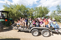 Hayride, Mitchell Lake Audubon Center, San Antonio, Texas, USA.