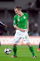 Fotball<br /> Irland v Frankrike<br /> Foto: DPPI/Digitalsport<br /> NORWAY ONLY<br /> <br /> FOOTBALL - FIFA WORLD CUP 2010 - PLAY OFFS - REPUBLIC OF IRELAND v  FRANCE - 14/11/2009<br /> <br /> GLENN WHELAN (IRL)