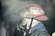 Israel, Fire fighters during a fire drill