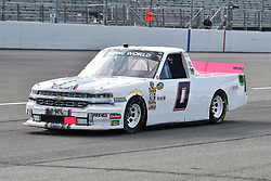 June 22, 2018 - Madison, Illinois, U.S. - MADISON, IL - JUNE 22:  Camden Murphy (0) driving a Chevrolet for Driven2Honor warms up before the Camping World Truck Series - Eaton 200 on June 22, 2018, at Gateway Motorsports Park, Madison, IL.   (Photo by Keith Gillett/Icon Sportswire) (Credit Image: © Keith Gillett/Icon SMI via ZUMA Press)