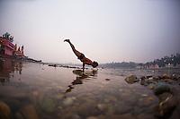 Deepak Deka at the Ganga
