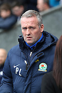 Blackburn Rovers Manager Paul Lambert  looks on prior to kick off. Skybet football league Championship match, Blackburn Rovers v Leeds United at Ewood Park in Blackburn, Lancs on Saturday 12th March 2016.<br /> pic by Chris Stading, Andrew Orchard sports photography.