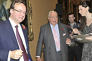 GARY POWELL; ADRIAN SYKES, Rothschild Wealth Management & Trust  and David Campbell  host a party to celebrate the publication of <br /> 'Made in Britain' -The Men and Women Who Shaped the Modern World by Adrian Sykes. National Portrait Gallery. London. 9 November 2011 <br /> <br /> <br />  , -DO NOT ARCHIVE-© Copyright Photograph by Dafydd Jones. 248 Clapham Rd. London SW9 0PZ. Tel 0207 820 0771. www.dafjones.com.