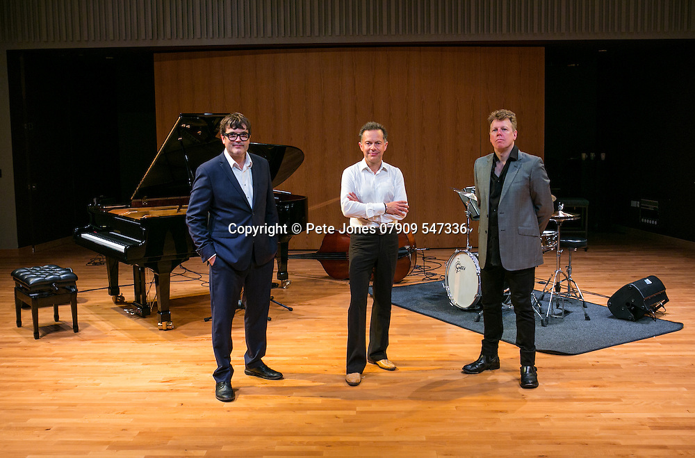 Dominic Alldis Jazz Trio;<br /> Birley Arts Centre;<br /> Eastbourne, East Sussex;<br /> 13th September 2016<br /> <br /> © Pete Jones<br /> pete@pjproductions.co.uk Dominic Alldis on piano,<br /> Andrew Cleyndert on bass,<br /> Martin France on drums.