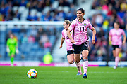 Jane Ross (#13) of Scotland chases after the loose ball during the International Friendly match between Scotland Women and Jamaica Women at Hampden Park, Glasgow, United Kingdom on 28 May 2019.