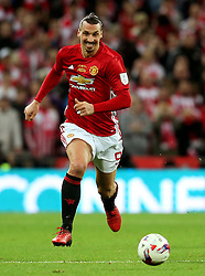 Zlatan Ibrahimovic of Manchester United  - Mandatory by-line: Matt McNulty/JMP - 26/02/2017 - FOOTBALL - Wembley Stadium - London, England - Manchester United v Southampton - EFL Cup Final