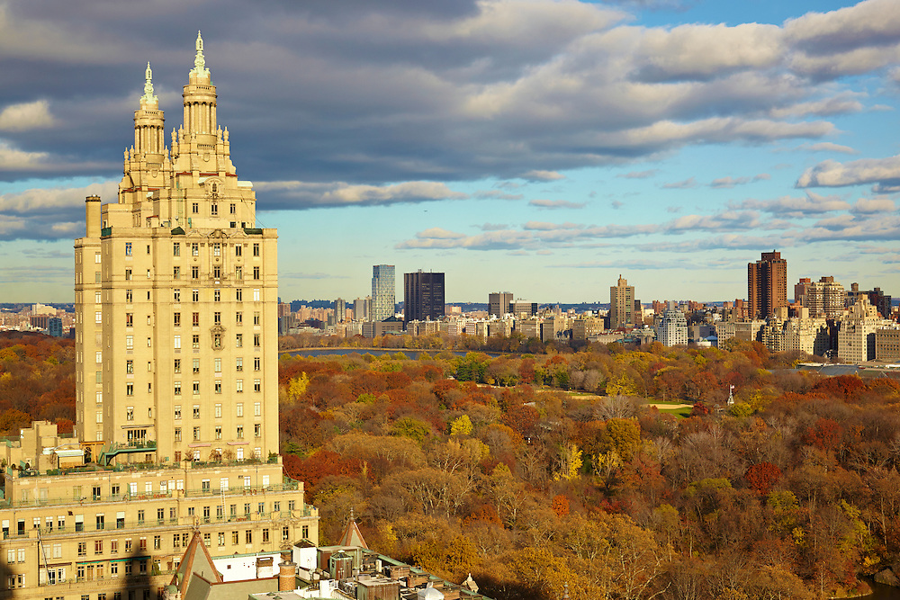 View of the San Remo and Central Park from 12 West 72nd Street, 28th floor