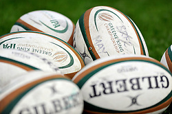A general view of Greene King IPA Championship branded balls - Photo mandatory by-line: Patrick Khachfe/JMP - Mobile: 07966 386802 27/05/2015 - SPORT - RUGBY UNION - Worcester - Sixways Stadium - Worcester Warriors v Bristol Rugby - Greene King IPA Championship Play-off Final (Second leg)