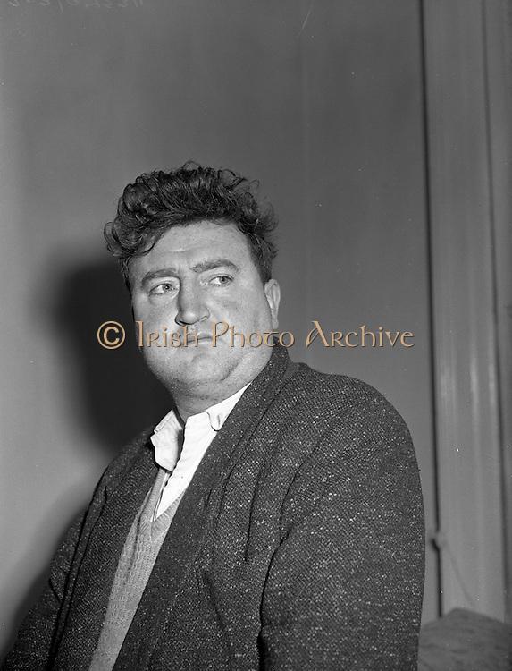 25/02/1957<br /> 02/25/1957<br /> 25 February 1957<br /> Brendan Behan, playwright and author at 15, Herbert Street, Dublin.