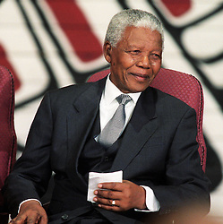 NELSON ROLIHLAHLA MANDELA (July 18, 1918 - December 5, 2013), 95, world renown civil rights activist and world leader. Mandela emerged from prison to become the first black President of South Africa in 1994. As a symbol of peacemaking, he won the 1993 Nobel Peace Prize. Joined his countries anti-apartheid movement in his 20s and then the ANC (African National Congress) in 1942. For next 20 years, he directed a campaign of peaceful, non-violent defiance against the South African government and its racist policies and for his efforts was incarcerated for 27 years. Remained strong and faithful to his cause, thru out his life, of a world of peace. Transforming the world, to make it a better place. PICTURED: November 19, 2001 - Ottawa, Ontario, Canada - Former South African President NELSON MANDELA sits during a ceremony to make Mandela an honorary Canadian citizen, at the Museum of Civilization in Hull, Quebec. Mandela, who was jailed for 27 years by South Africa's apartheid rulers, is only the second non-Canadian to receive the distinction. Credit Image: