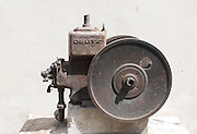 Industrial kerosene powered water pump from 1906 photographed in Israel
