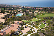 Panoramic View of The Resort at Pelican Hill and the Ocean in Newport Coast California