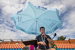 PORTOROZ, SLOVENIA - SEPTEMBER 18: Ziga Koscak at the WTA 250 Zavarovalnica Sava Portoroz at SRC Marina, on September 18, 2021 in Portoroz / Portorose, Slovenia. Photo by Vid Ponikvar / Sportida