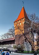Baszta Pasamoników (Baszta Szmuklerzy) w Krakowie. Pasamoniky Tower (Stonemason's Tower) in Cracow, Poland